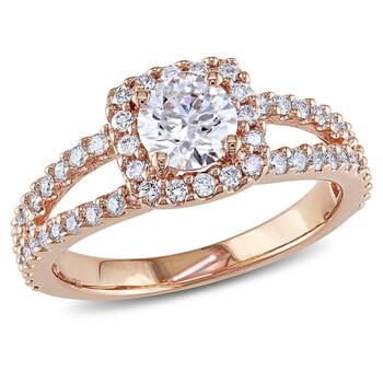 Trang sức Amour Vàng hồng 14K 1 CT TDW Kim cương Halo Nhẫn chính hãng sale giá rẻ Hà nội TPHCM