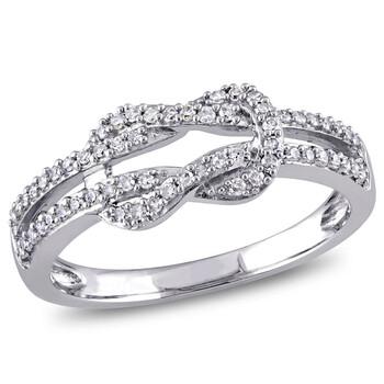 Trang sức Amour Vàng trắng 10K 1/4 CT TDW Kim cương Infinity Nhẫn chính hãng sale giá rẻ Hà nội TPHCM