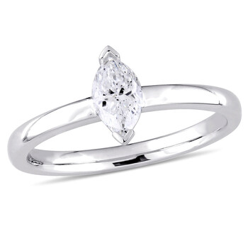 Trang sức Amour Vàng trắng 14K 1/2 CT TDW Kim cương Solitaire Nhẫn chính hãng sale giá rẻ Hà nội TPHCM