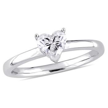 Trang sức Amour Vàng trắng 14K 1/2 CT TDW Kim cương Solitaire Nhẫn đính hôn chính hãng sale giá rẻ Hà nội TPHCM