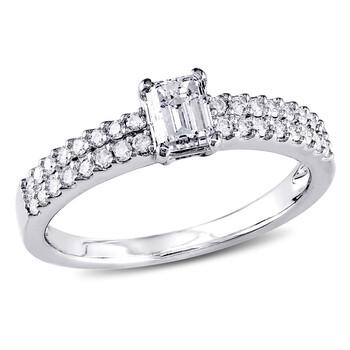 trang sức Amour Vàng trắng 14K 3/4 CT TDW Kim cương Multi-row Nhẫn chính hãng sale giá rẻ tại Hà nội TPHCM