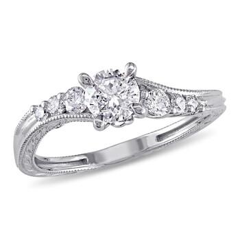 Trang sức Amour Vàng trắng 14K 3/4 CT TDW Kim cương Bridal Set Nhẫn chính hãng sale giá rẻ Hà nội TPHCM