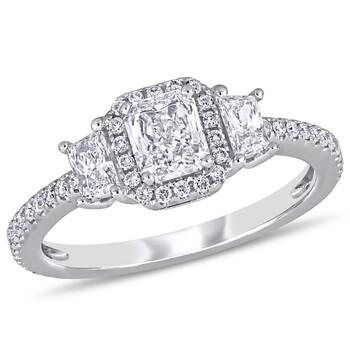Trang sức Amour Vàng trắng 14K 1 CT TDW Kim cương Nhẫn đính hôn chính hãng sale giá rẻ Hà nội TPHCM