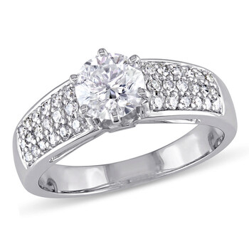 Trang sức Amour Vàng trắng 14K 1 CT TDW Kim cương Nhẫn đính hôn chính hãng sale giảm giá sỉ rẻ nhất ở Hà nội TPHCM