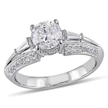Trang sức Amour Vàng trắng 14K 1-1/2 CT TDW Kim cương Nhẫn đính hôn chính hãng sale giá rẻ Hà nội TPHCM