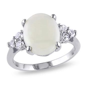 trang sức Amour Bạc 925 3.06 CT TGW Opal và Created White Sapphire Cocktail Nhẫn chính hãng sale giá rẻ tại Hà nội TPHCM