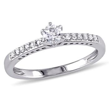 Trang sức Amour Silver 0.06 CT Kim cương TW và 1/4 CT TGW Created White Sapphire Nhẫn thời trang chính hãng sale giá rẻ Hà nội TPHCM
