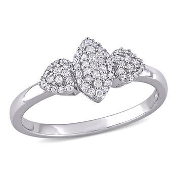 Trang sức Amour Bạc 925 1/5 CT TDW Kim cương Cluster Nhẫn chính hãng sale giá rẻ Hà nội TPHCM