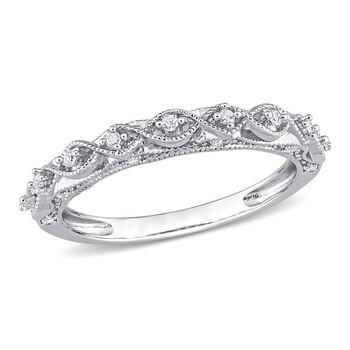 Trang sức Amour Bạc 925 1/8 CT TDW Kim cương Nhẫn chính hãng sale giá rẻ Hà nội TPHCM