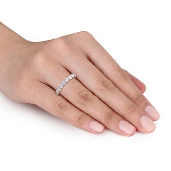 Trang sức Amour Bạc 925 2 2/3 CT TGW Created White Moissanite Eternity chính hãng sale giá rẻ Hà nội TPHCM