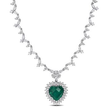 Trang sức Amour Bạc 925 47 CT Cubic Zirconia Heart Dây chuyền (vòng cổ) chính hãng sale giá rẻ Hà nội TPHCM