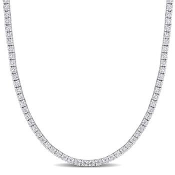 Trang sức Amour Bạc 925 5 1/10 CT TGW Created White Moissanite Dây chuyền (vòng cổ) chính hãng sale giảm giá sỉ rẻ nhất ở Hà nội TPHCM