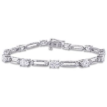 trang sức Amour Bạc 925 6 CT TGW Created White Moissanite Link Vòng đeo tay chính hãng sale giá rẻ tại Hà nội TPHCM