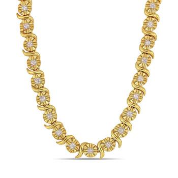 Trang sức Amour Gold mạ Silver 1/2 CT Kim cương Dây chuyền (vòng cổ) chính hãng sale giá rẻ Hà nội TPHCM