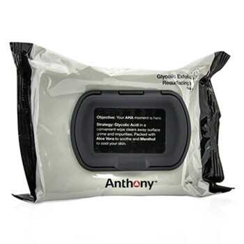 Mỹ phẩm chăm sóc da Anthony Logistics cho nam Glycolic Exfoliating & Resurfacing Wipes 30wipes chính hãng từ Mỹ US UK sale giá rẻ ở tại Hà nội TPHCM