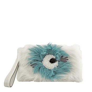Anya Hindmarch Furry Eyes Shearling Pouch - màu trắng Chính hãng từ Mỹ