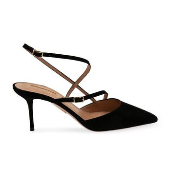 Giày Aquazzura Carolyne 75 Pumps màu đen chính hãng