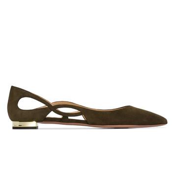 Giày Aquazzura nữ Forever Pointed-toe Ballerina Shoes chính hãng