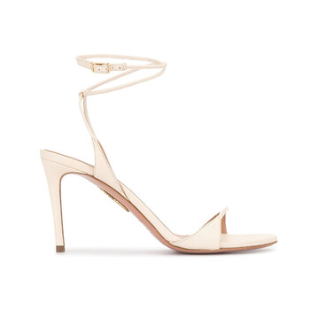 Giày Aquazzura nữ Minute 85 Sandals In Cream chính hãng