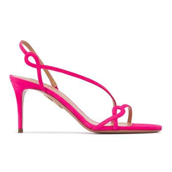 Giày Aquazzura Serpentine 75 Sandals màu hồng chính hãng