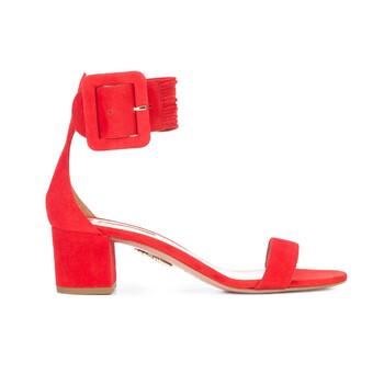 Giày Aquazzura nữ Buckled Ankle Strap Sandals màu đỏ chính hãng