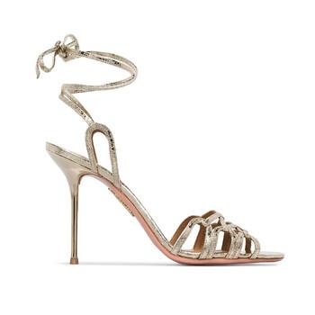 Giày Aquazzura nữ Azur Metallic 95 Sandals chính hãng