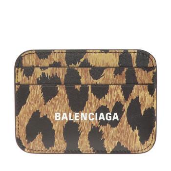 Balenciaga Beige Card Holder With Logo Chính hãng từ Mỹ