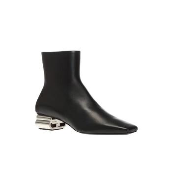 Giày Balenciaga màu đen BB-shaped Heel Ankle Boots chính hãng