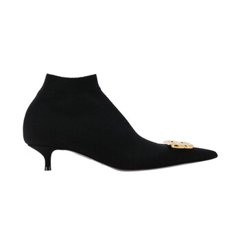 Giày Balenciaga màu đen Knit 40 mm Knife Bootie chính hãng