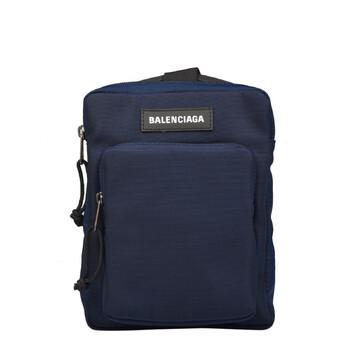 Balenciaga màu xanh dương Explorer Logo Túi đeo chéo Chính hãng từ Mỹ