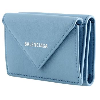 Balenciaga màu xanh dương Paper Mini Ví Chính hãng từ Mỹ