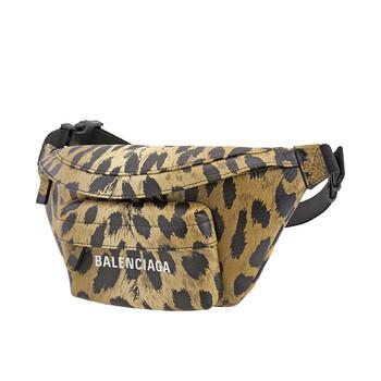 Balenciaga Everyday Brown Mini Túi đeo thắt lưng Leopard Print Chính hãng từ Mỹ