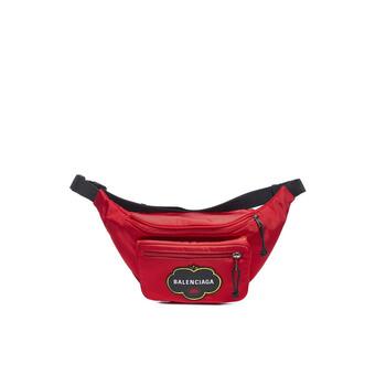 Balenciaga Explorer Logo - applique Canvas Túi đeo thắt lưng màu đỏ Chính hãng từ Mỹ