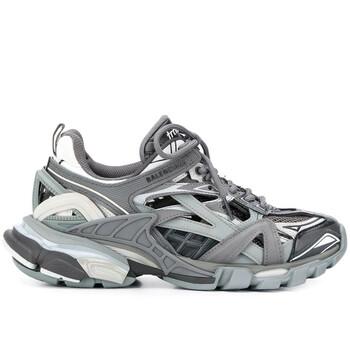 Giày Balenciaga màu xám / màu đen Track.2 Open Sneakers chính hãng