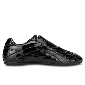Giày Balenciaga nữ màu đen Shiny Technical Polyurethane Zen Sneakers chính hãng