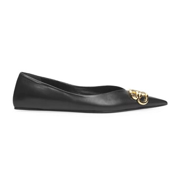 Giày Balenciaga nữ Square Knife BB Ballerina Flats chính hãng