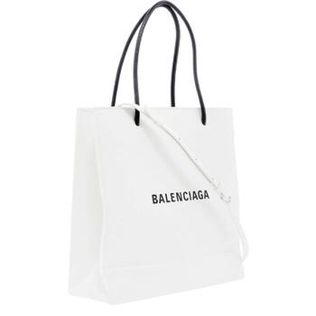Balenciaga Logo Printed màu trắng Da Túi Tote Chính hãng từ Mỹ