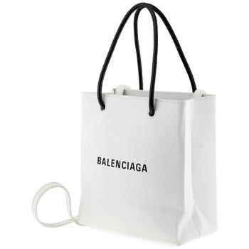 Balenciaga màu trắng Extra Extra size nhỏ AJ Da Shopper Tote Chính hãng từ Mỹ
