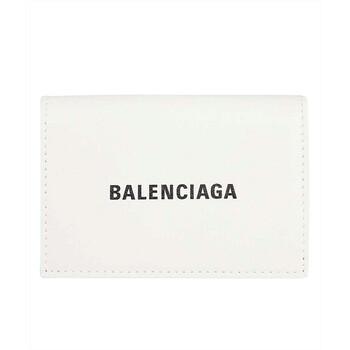 Balenciaga màu trắng Mini Logo Ví Chính hãng từ Mỹ