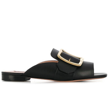 bally ladies janaya flat buckle sandals in black 6226202