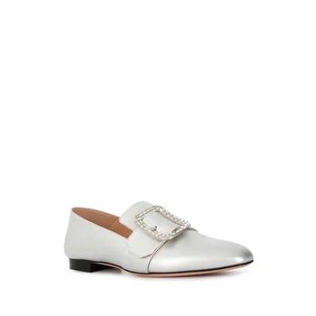 Giày Bally màu trắng Janelle Metallic Loafers chính hãng sale giá rẻ