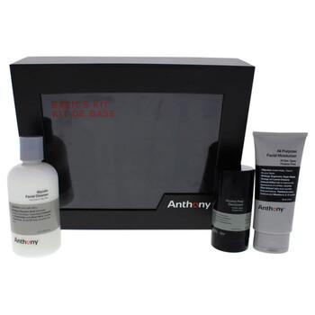 Mỹ phẩm chăm sóc da Anthony Basics Kit by Anthony cho nữ & nam 3 Pc 8oz Glycolic Facial Cleanser