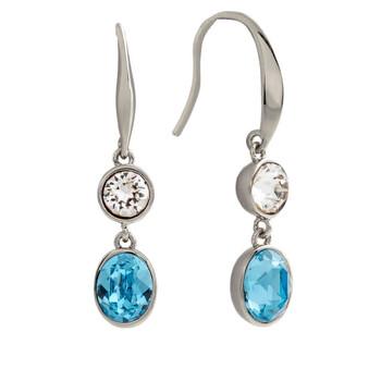 Trang sức Bertha Jemma Collection Nữ 18k WG mạ Blue Dangle Thời trang Bông tai (khuyên tai