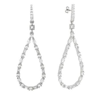 Trang sức Bertha Juliet Collection Nữ 18k WG mạ Thời trang Earring chính hãng sale giá rẻ Hà nội TPHCM