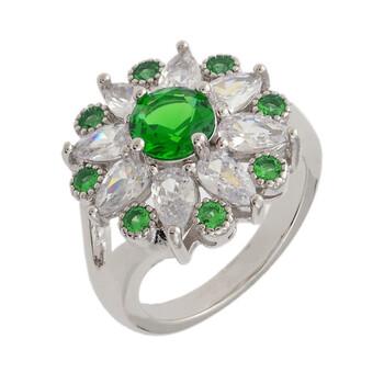 Trang sức Bertha Juliet Collection Nữ 18k WG mạ Green Floral Statement Nhẫn thời trang chính hãng sale giá rẻ Hà nội TPHCM