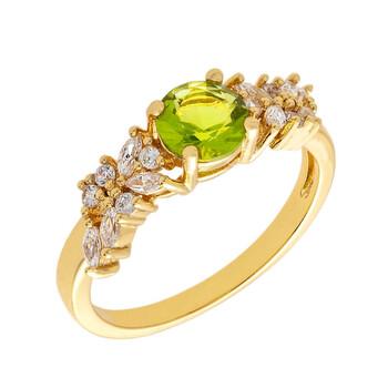 Trang sức Bertha Juliet Collection Nữ 18k YG mạ Light Green Cluster Nhẫn thời trang chính hãng sale giá rẻ Hà nội TPHCM