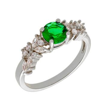 Trang sức Bertha Juliet Collection Nữ 18k WG mạ Green Cluster Nhẫn thời trang chính hãng sale giá rẻ Hà nội TPHCM