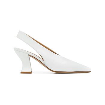 Giày Bottega Veneta Almond màu trắng Dream Nappa Slingbacks