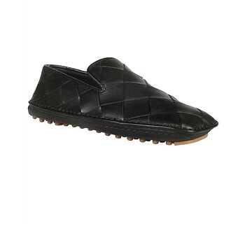 Giày Bottega Veneta nữ màu đen Maxi Intrecciato Weave Slippers chính hãng sale giá rẻ