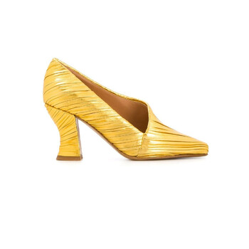 Giày Bottega Veneta nữ Yellow Almond 75mm Pumps chính hãng sale giá rẻ